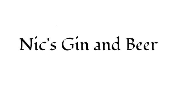 Nics Gin and beer logo.